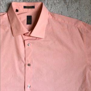 Ike Behar Peach Dress Shirt - Like New